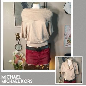HOLD 4 T 4/27Micheal Kors gold spec sweater